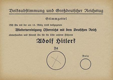 Wahlzettel Adolf Hittler